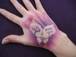 Butterfly Hand Tattoo Stencil
