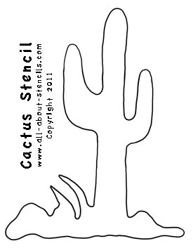 Cactus Stencil from www.all-about-stencils.com