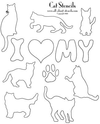 Cat Stencils Dog Stencil Patterns Animal Stencils All Free
