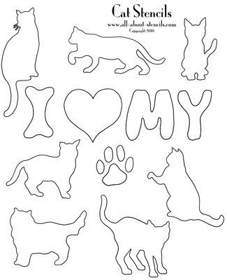Cat Stencils Dog Stencil Patterns Animal Stencils All