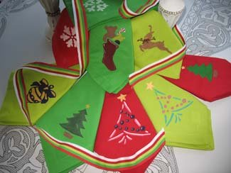 Christmas Crafts from www.all-about-stencils.com
