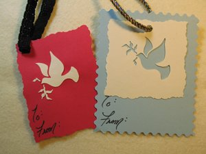 Stenciled Dove Gift Tags from www.all-about-stencils.com