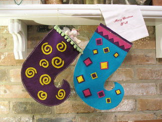 Chrismtas Stocking from All-About-Stencils