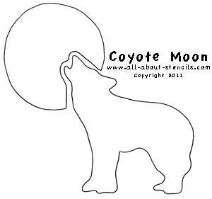 Coyote Moon Stencil from All-About-Stencils.com