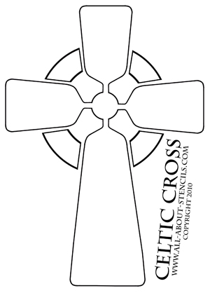 Celtic Cross Stencil from all-about-stencils.com