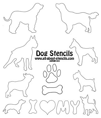 Dog Stencils from all-about-stencils.com