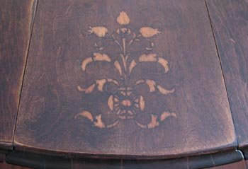 My Stenciled Gate Leg Table Top