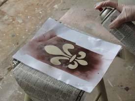 Fleur de lis Spray Paint Stencil Project from www.all-about-stencils.com