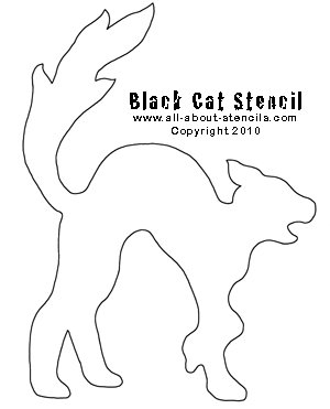 Black Cat Stencil from all-about-stencils.com