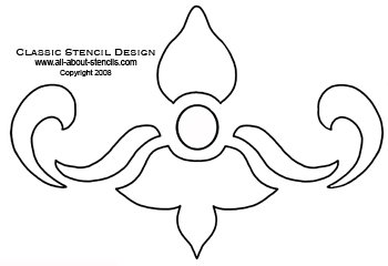 Classic Design Stencil from All-About-Stencils.com