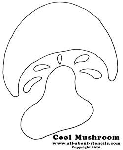 Mushroom Stencil from www.all-about-stencils.com