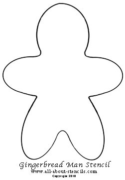 Gingerbread Man Stencil from www.all-about-stencils.com