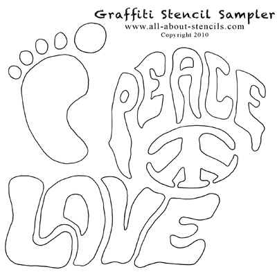 Graffitti Art Stencils from www.all-about-stencils.com