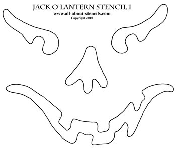 Jack-O-Lantern Stencil from www.all-about-stencils.com