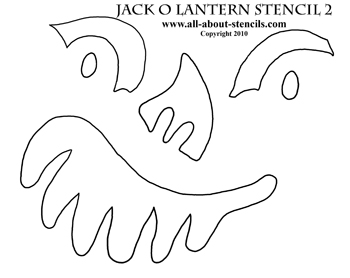 Jack O Lantern Stencil from all-about-stencils.com