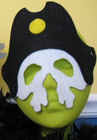 Pirate Skull Mask from www.all-about-stencils.com