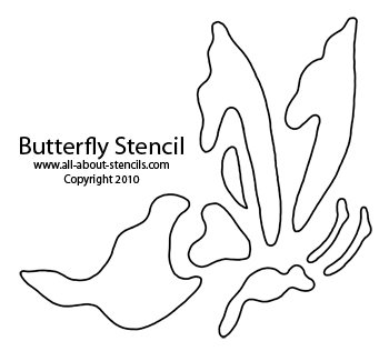 photograph relating to Free Printable Beach Stencils named Butterfly Stencils For Backyard garden and Summer season Topic Artwork Furthermore Free of charge