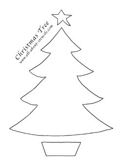 Chistmas Tree Stencil from www.all-about-stencils.com