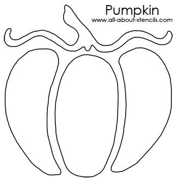 Pumpkin Stencil from www.all-about-stencils.com