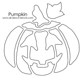 Pumpkin Stencil from all-about-stencils.com