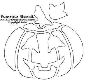 Pumpkin Stencil from www.all-about-stencils.com
