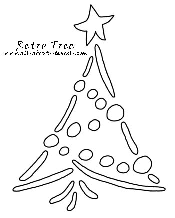 Retro Tree Stencil from www.all-about-stencils.com