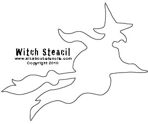 Witch Stencil from www.all-about-stencils.com