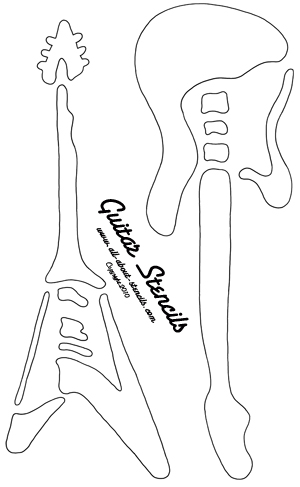 Guitar Stencil from www.all-about-stencils.com