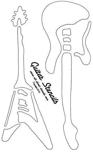 Guitar Stencil