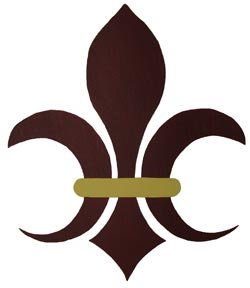 Half Moon Fleur de lis from All-About-Stencils.com