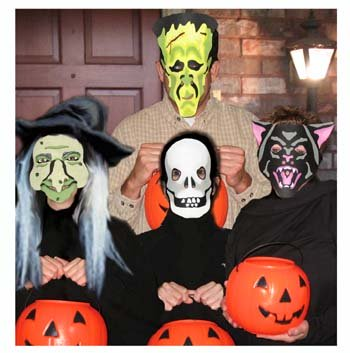 Stenciled Halloween Masks from www.all-about-stencils.com