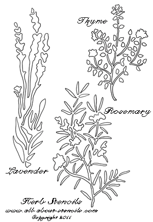Herb Stencils from www.all-about-stencils.com