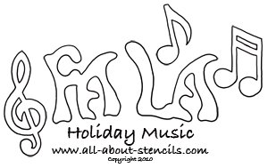 Holiday Music Stencil from www.all-about-stencils.com
