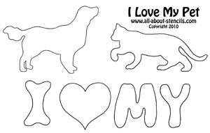 Pet Stencil from www.all-about-stencils.com