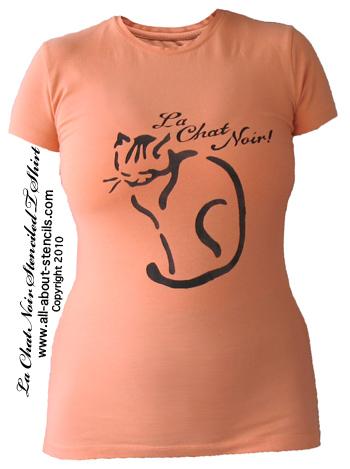 Cat Stencil T Shirt Project Ideas