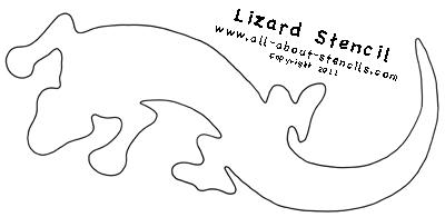 Lizard Stencil from All-About-Stencils.com