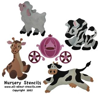 Nursery Stencils from www.all-about-stencils.com
