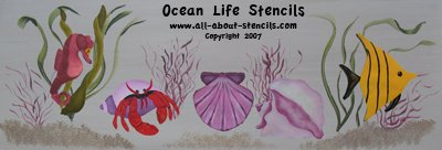 Ocean Life Stencils from www.all-about-stencils.com