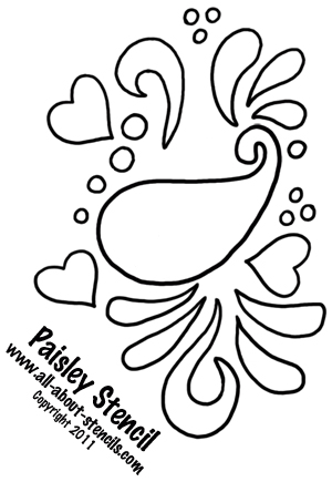Paisley Stencil from all-about-stencils.com