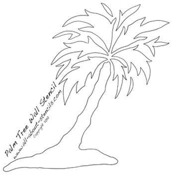 Palm Tree Stencil from www.all-about-stencils.com