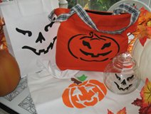 Stenciled Pumpkin Samples from www.all-about-stencils.com