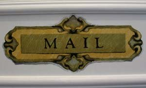 Trompe L'oeil Mail Slot Stencil from www.all-about-stencils.com