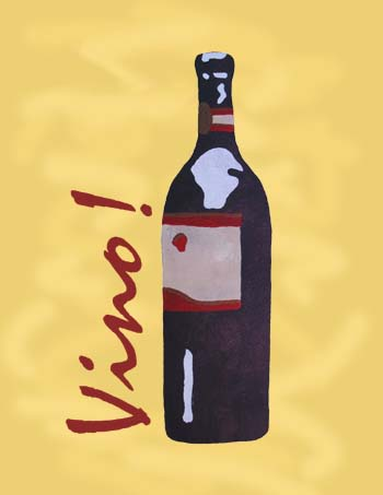 Stenciled Wine Bottle Art Print from www.all-about-stencils.com